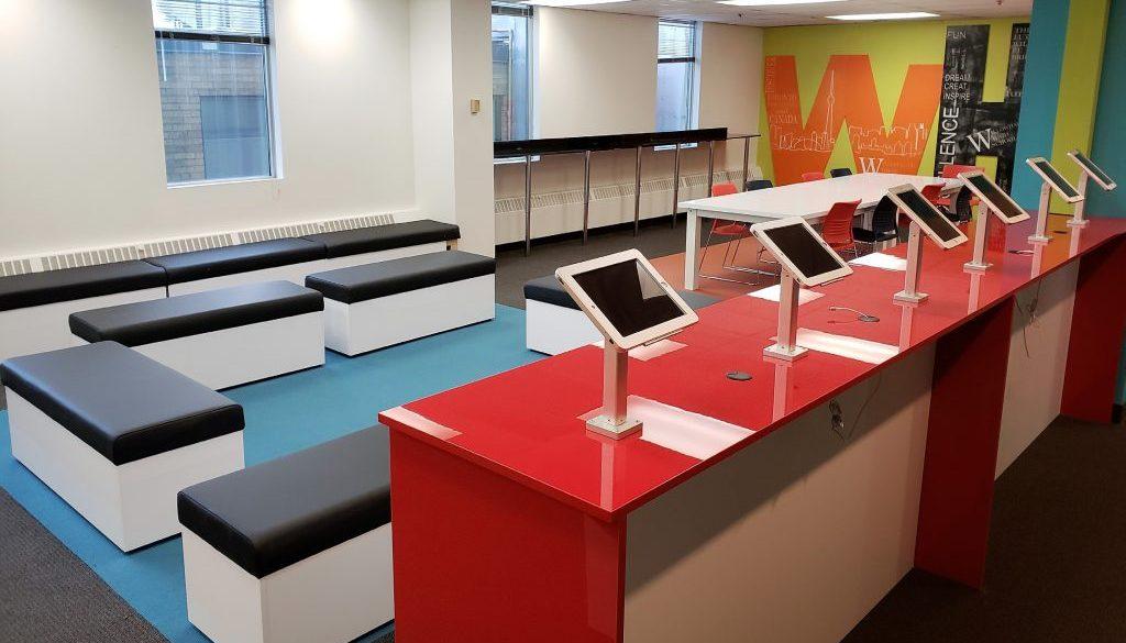 WHS Main Room with iPads